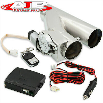 $ CDN112.47 • Buy Universal 3  76mm Electric Catback Exhaust Flange Cut Out Piping +Remote Control
