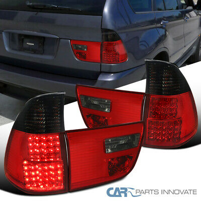 $128.95 • Buy For 00-06 BMW E53 X5 LED Red/Smoke Rear Tail Trunk Lights Brake Lamps Left+Right