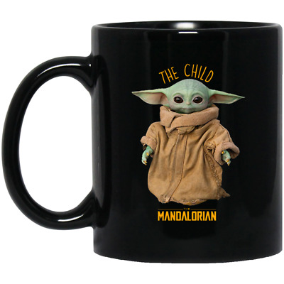 $15.50 • Buy The Child Mandalorian Baby Yoda Mug Black Coffee Mug Funny Gift