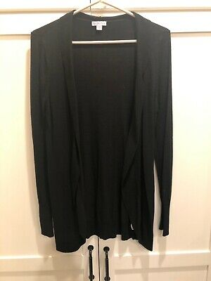 $5 • Buy Merona - Black Cardigan - Large - Great Condition