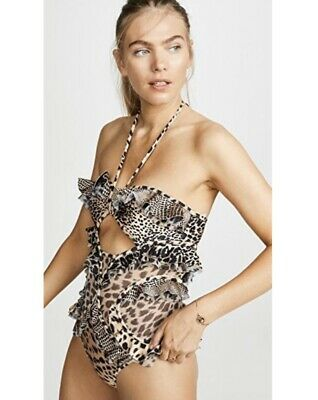 $171.99 • Buy Zimmerman Allia Animal Print One Piece Frill Swimsuit Size 0