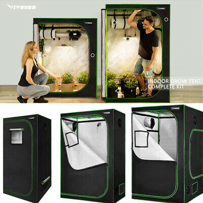 AU126.89 • Buy VIVOSUN Mylar Hydroponic Grow Tent With Observation Window And Floor Tray InDoor