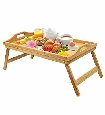$30.10 • Buy Urbenfit Bed Tray Table Bamboo Portable Lightweight Breakfast Serving Trays