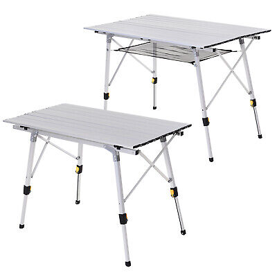 £39.99 • Buy Portable Roll-up Aluminium Folding Picnic Table Outdoor BBQ Party W/ Bag - 3/4ft