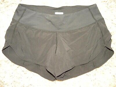 $15 • Buy EUC--LULULEMON SPEED SHORTS  Black Stretch Running/yoga Shorts (4)