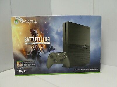 $51 • Buy Xbox One S 1TB Console – Battlefield 1 Special Edition Bundle GREEN