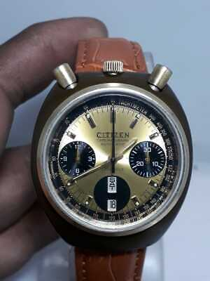 $ CDN162.35 • Buy Rare Vintage Citizen Bullhead Chronograph 23 Jewels 8110A Mens Wrist Watch