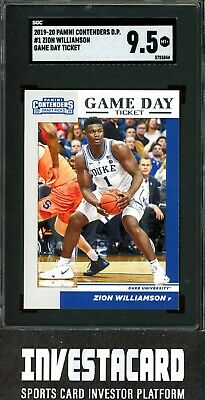 $2.75 • Buy 2019-20 Panini Contenders Zion Williamson #1 Game Day Ticket Rookie Card SGC 9.5