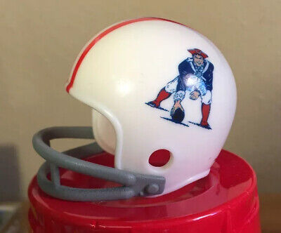 $11.95 • Buy New England Patriots 2 Two Bar Throwback Riddell Pocket Pro Football Helmet NFL