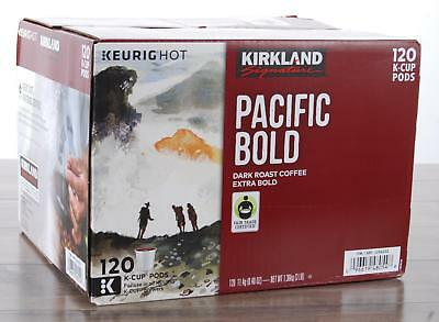 $37 • Buy Kirkland Signature Pacific Bold Coffee Extra Dark Roast 120 K-Cups Keurig HOT