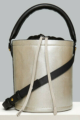 M&s Autograph Genuine Leather Drawstring Bucket Bag - Bnwt • 26.99£