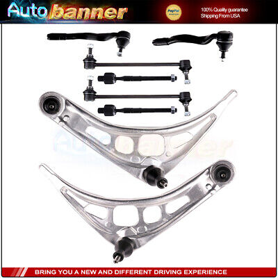 $171.02 • Buy 8pc Control Arm Ball Joint Tie Rod End Suspension Kit For BMW E46 3 Series EV441