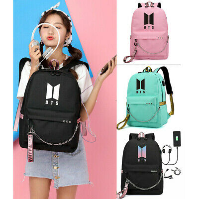 $22.99 • Buy KPOP BTS Jimin Suga J-Hope V School Backpack W/Laptop Sleeve Nylon Shoulder Bag