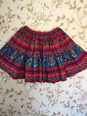 $15 • Buy Square Dance Skirt With Geometric Print