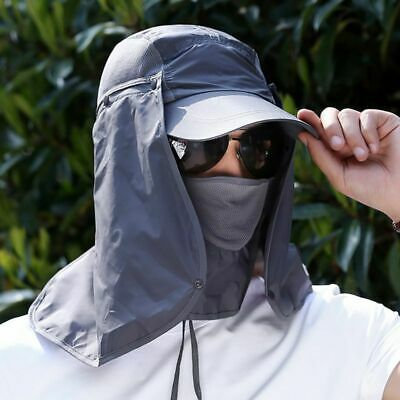 $7.80 • Buy 360°Sun UV Protection Ear Flap Neck Cover Sun Hat Cap For Camping Hiking Fishing