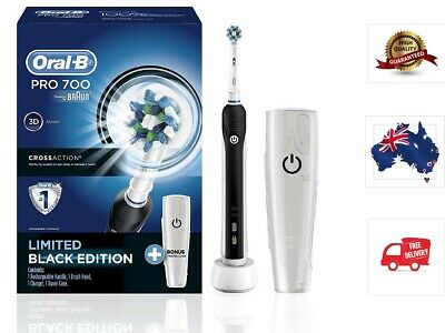 AU57.99 • Buy Oral-B PRO 700 Rechargeable Electric Toothbrush – Powered By Braun & Travel Case