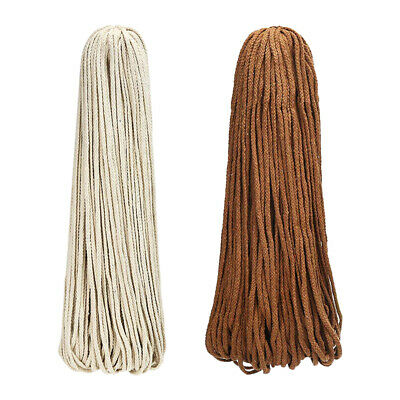 AU20.29 • Buy 5mm Macrame Rope Natural Beige Cotton Twisted Cord Artisans Hand Craft 90M NEW