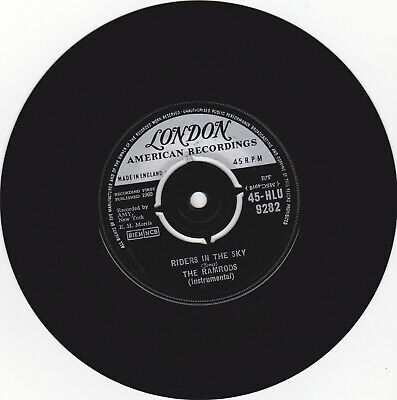 The Ramrods- Riders In The Sky London 45 Hlu 9282  7  Vinyl Cleaned & Tested • 2.95£