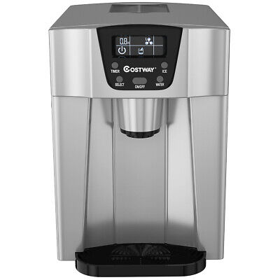 $169.19 • Buy 2 In 1 Ice Maker Water Dispenser Countertop 26Lbs/24H LCD Display Portable Home