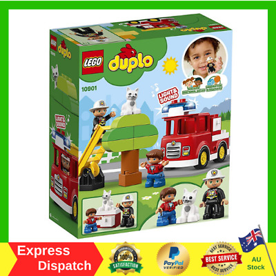 AU25.99 • Buy LEGO DUPLO Town Fire Truck 10901 Building Blocks For Kids  BRAND NEW FREE SHIP