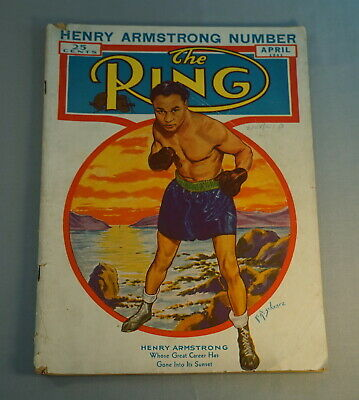 $1 • Buy April 1941 The Ring Boxing Magazine - Henry Armstrong Number