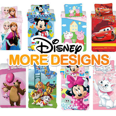 DISNEY, FROZEN ,CARS,PAW PATROL-Baby Bedding Set FIT COT Or COT BED 135x100cm • 18.49£