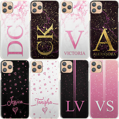 AU12.90 • Buy Personalised Initial Phone Case, Name Pink Star Marble Hard Cover For Google
