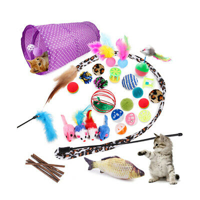 AU24.29 • Buy Bulk Buy Cat Kitten Toys Rod Fur Mice Bells Balls Catnip 28 Items Lovely Pet Toy