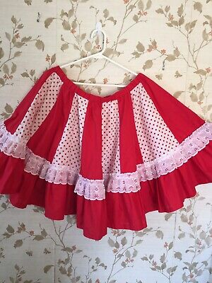 $8 • Buy Square Dance Skirt Red & White With Polka Dots