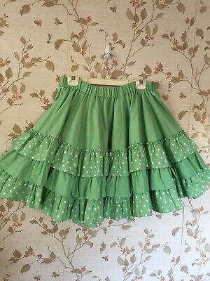 $12 • Buy Square Dance Skirt Dark Mint Green