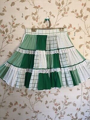 $25 • Buy Square Dance Skirt Green & White