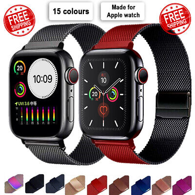 $ CDN8.78 • Buy 【Apple Watch】Series 5 4 3 2 1 Milanese Magnetic Stainless Loop Strap Band Iwatch