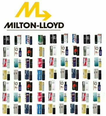( CHOOSE ANY 1 - 4 ) Milton Lloyd Perfumes Fragrances Mens & Womens 25% Discount • 5.90£