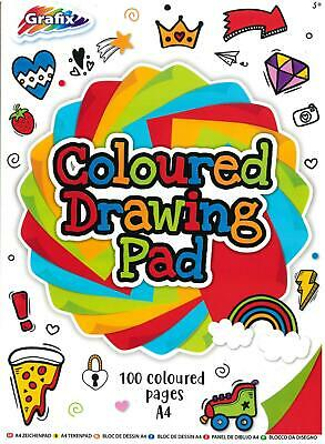 £2.89 • Buy 50 Sheets A4 Bright Coloured Paper Drawing Pad Sketch Book Kids Art School
