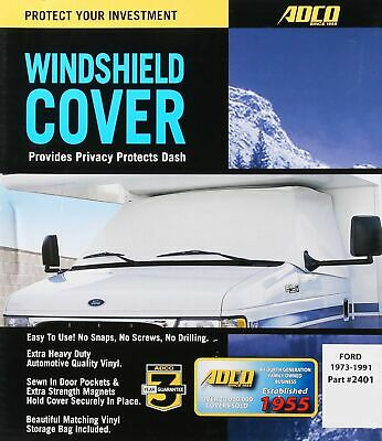 $62.51 • Buy ADCO Class C Windshield Cover For RV, White
