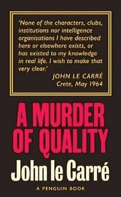 £7.17 • Buy A Murder Of Quality The Smiley Collection By John Le Carre 9780241330883