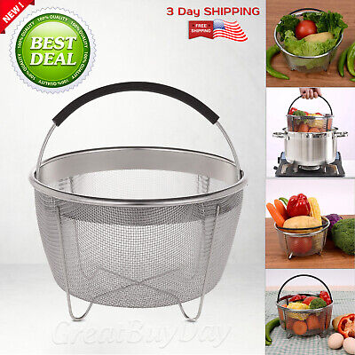 $17.90 • Buy Steamer Basket For Instant Pot Accessories Stainless Steel 3 Qt Pressure Cookers
