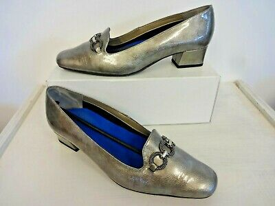 Van Dal Twilight Pewter Ladies Patent Leather Shoes In Box Uk Size 8 Ee • 9.99£