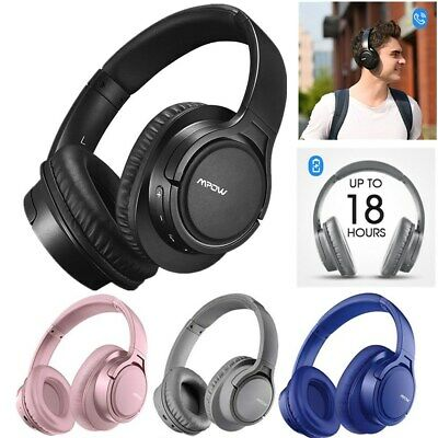 Mpow Wireless Bluetooth Headphones Headset Stereo Over-Ear Earphones With Bag • 28.99£