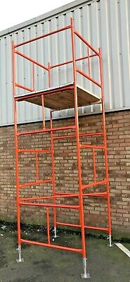 SCAFFOLD TOWER 4' X 4'   DIY   19'6ft WORKING HEIGHT, PPC SAFETY ORANGE TOWERS • 305£