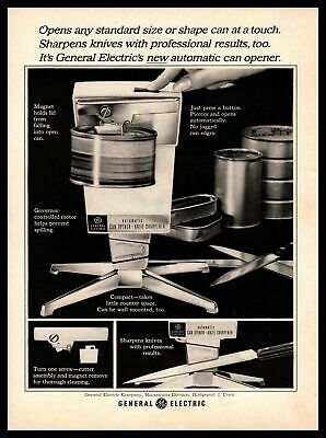 $ CDN13.54 • Buy 1964 General Electric Automatic Can Opener Knife Sharpener Vintage G.E. Print Ad