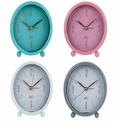 Small Round Bedside Table Retro Alarm Clock Office Home Desk Matte Analogue Dial • 6.25£