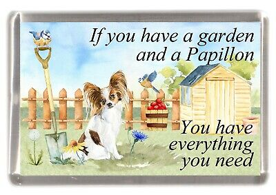 £3.10 • Buy Papillon Butterfly Dog Fridge Magnet  If You Have A Garden ....  By Starprint