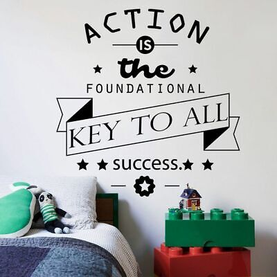 $ CDN12.09 • Buy Action Is Key Life Motivation Quotes Vinyl Wall Art Sticker Home Room Decals