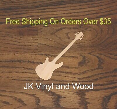 $4.49 • Buy Base Guitar, Music Instruments, Wood Cutout,  Wood Craft, Crafting A132