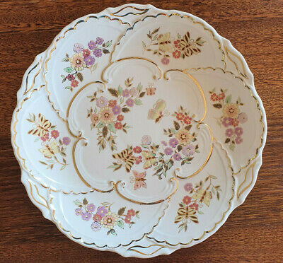 AU125 • Buy Signed Zsolnay Wall Plate / Serving Plate - Butterflies