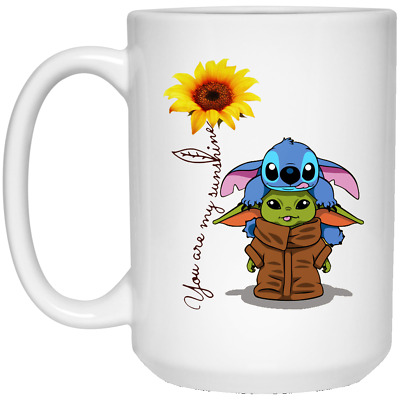 $16.50 • Buy Baby Yoda And Stitch You Are My Sunshine Coffee Mug Funny Gift