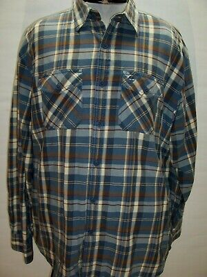 $17.46 • Buy TIMBERLAND Mens XL X-Large Plaid Flannel Button-up Shirt Combine Ship Discount