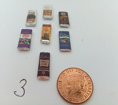 1/12 Scale Assorted Sweet Packets Set Of 7 For  Dollhouse Miniatures Display *** • 2.50£
