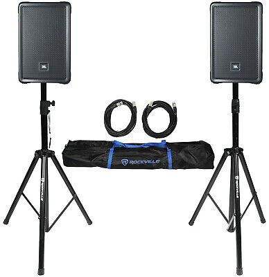 $723.80 • Buy 2) JBL IRX108BT 8  1000 Watt Powered DJ Portable PA Speakers W/ Bluetooth+Stands